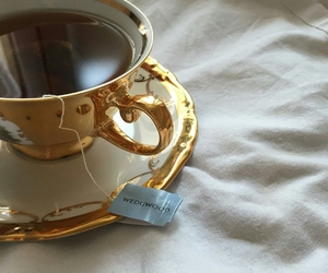 tea, gold, and aesthetic image