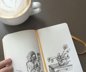 art, aesthetic, and coffee image