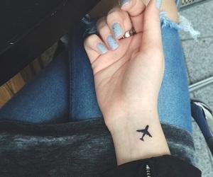 tattoo, airplane, and travel image