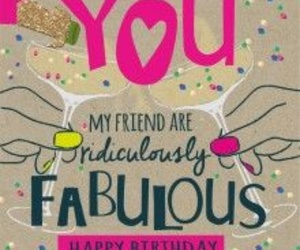 birthday card, celebrate, and cheers image