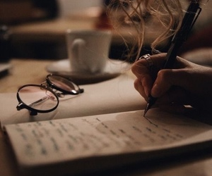 book, glasses, and writing image