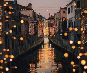 light, travel, and venice image