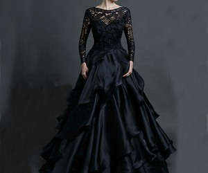 black, dress, and gorgeous image