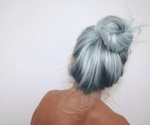 dyed hair, hairstyles, and white hair image