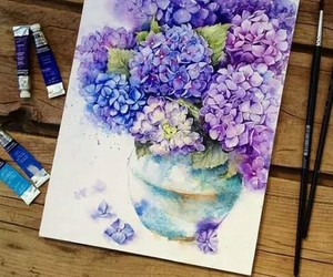 azul, flowers, and violet image