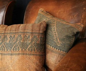 brown, brown leather, and leather sofa image