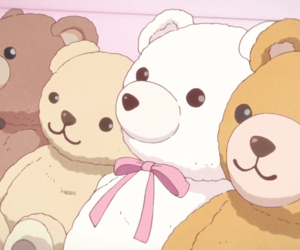 anime, aesthetic, and bear image