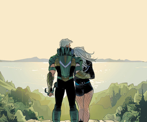 Black Canary, oliver queen, and dinah lance image
