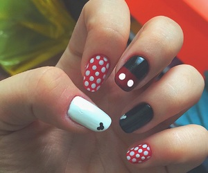 black, nails, and disney image
