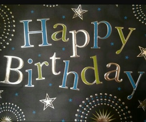 birthday card, black, and foil image