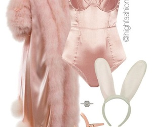 bunny, fluffy, and softpink image