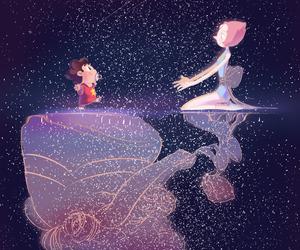 steven universe, pearl, and steven image