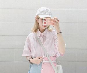 pastel, kfashion, and pink image