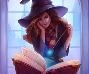 harry potter, book, and hermione image