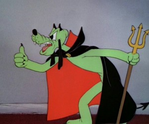 cartoon, Devil, and green image