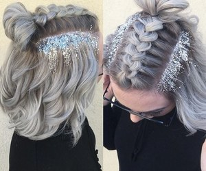 hair, glitter, and style image