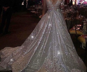 dress, luxury, and sparkle image