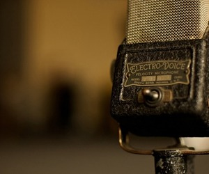 music, 50´s, and microphone image