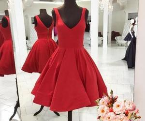 party gowns, short prom dress, and red homecoming dress image