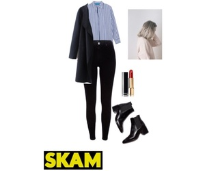 fashion, skam, and noora inspired outfit image