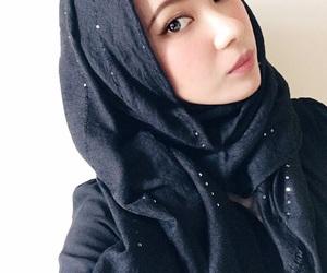 black, girl, and hijab image