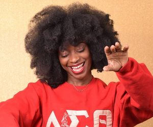 brown skin, kinky hair, and natural hair image