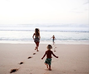 beach, family, and kids image