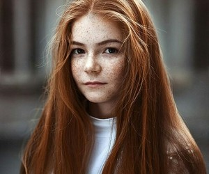 ginger, freckles, and red hair image