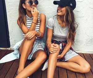 friends, bff, and outfit image