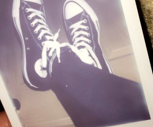 black, converse, and hightops image