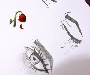 cry, dibujo, and eyes image
