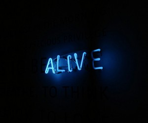 blue, alive, and neon lights image
