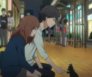 aesthetic, anime, and ao haru ride image