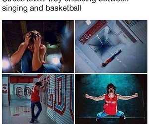 funny, high school musical, and stress image