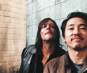 the walking dead, norman reedus, and steven yeun image