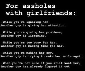 asshole, girlfriend, and boyfriend image