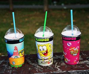 spongebob, patrick, and drink image