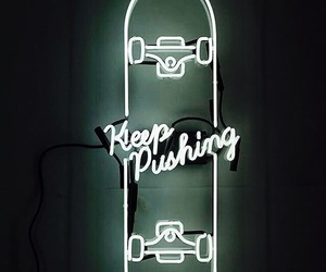 neon, light, and skateboard image
