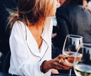 cool, wine, and woman image
