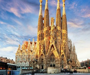Barcelona, church, and Sagrada Familia image