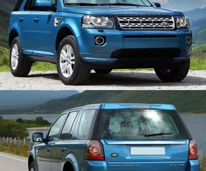 blue, car, and land rover image