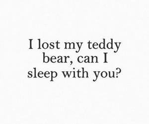sleep, love, and teddy bear image