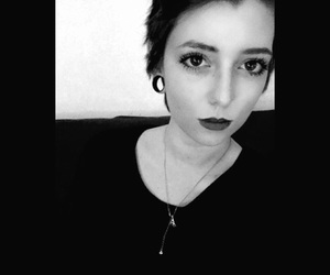 black, black and white, and bored image