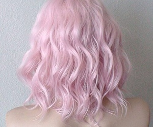 girl, pink hair, and hairstyle image