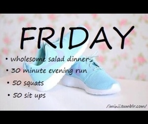 fitness, friday, and workout image