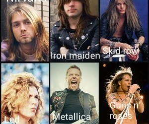 Guns N Roses, iron maiden, and led zeppelin image
