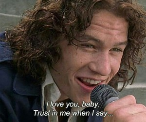 movies, 10 things i hate about you, and heath ledger image