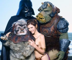 star wars, darth vader, and carrie fisher image