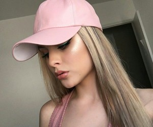 beautiful, girl, and hat image