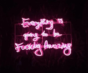 quotes, amazing, and neon image